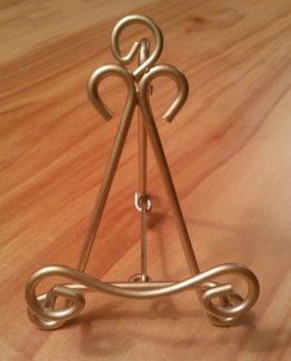 Premium Small Gold Plaque Stand